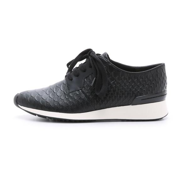 Vince Rayner Croc Embossed Sneaker